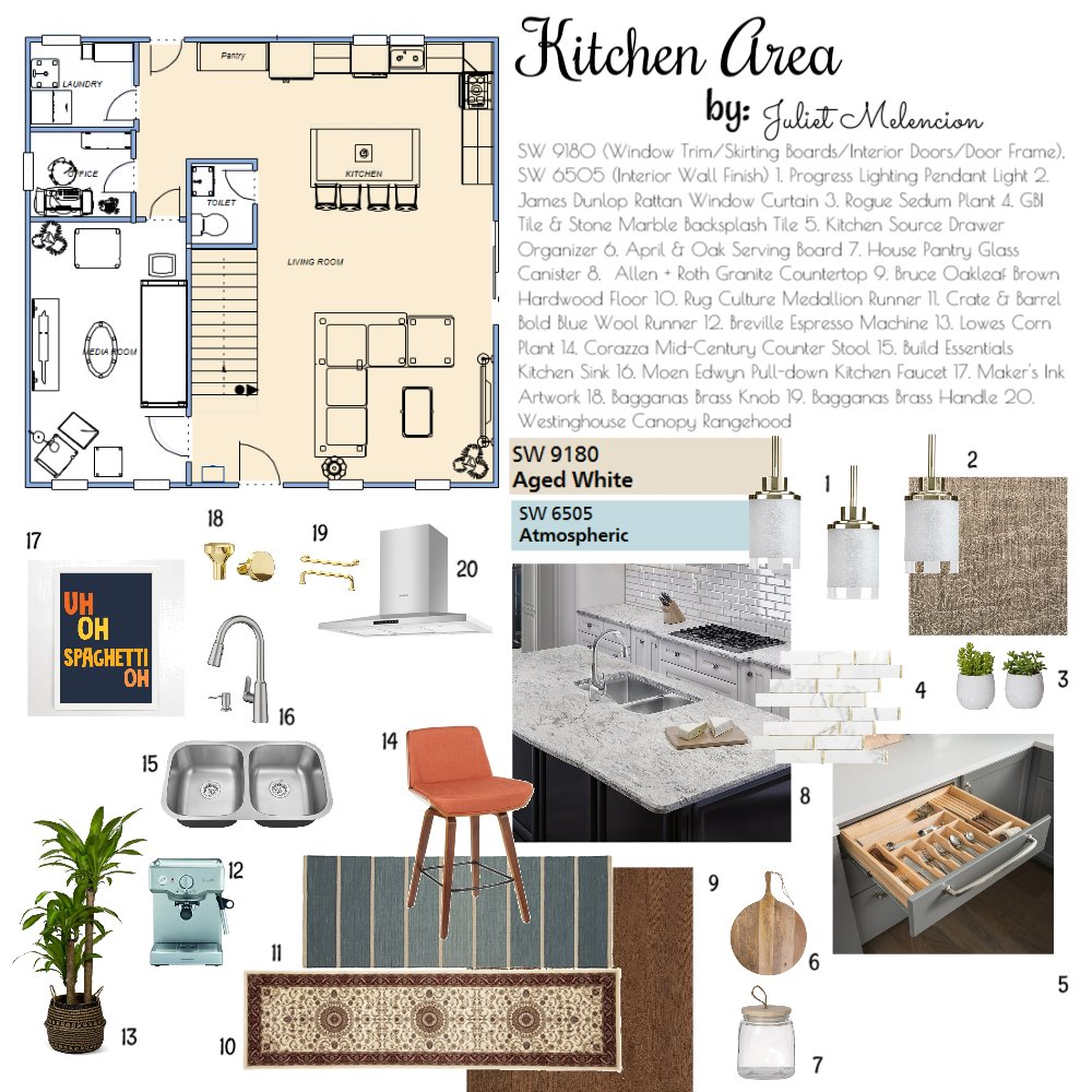 Proposed Kitchen Area Interior Design Mood Board by JulietM on Style Sourcebook