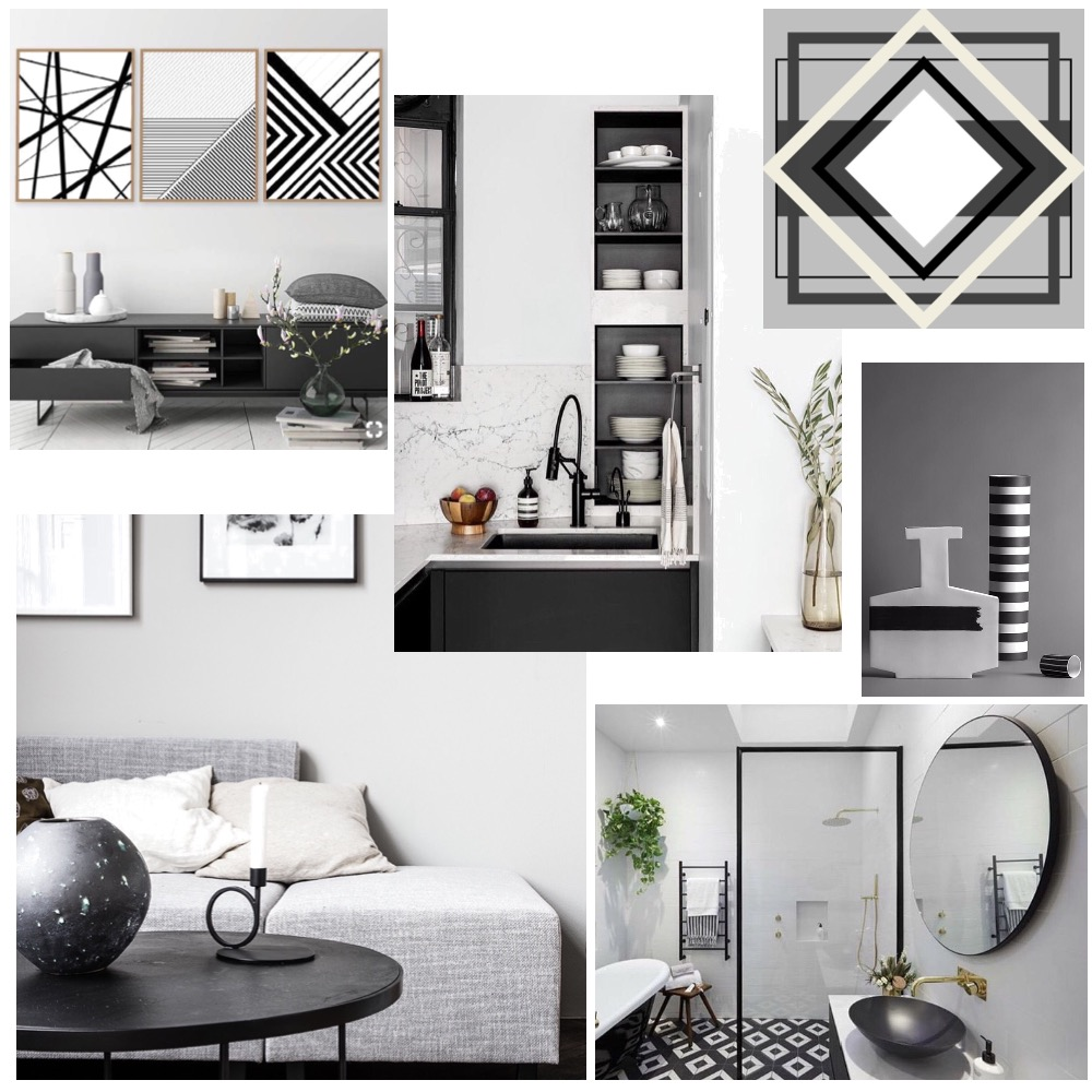 Achromatic Colour Scheme Interior Design Mood Board By Image Interiors And Design Style Sourcebook