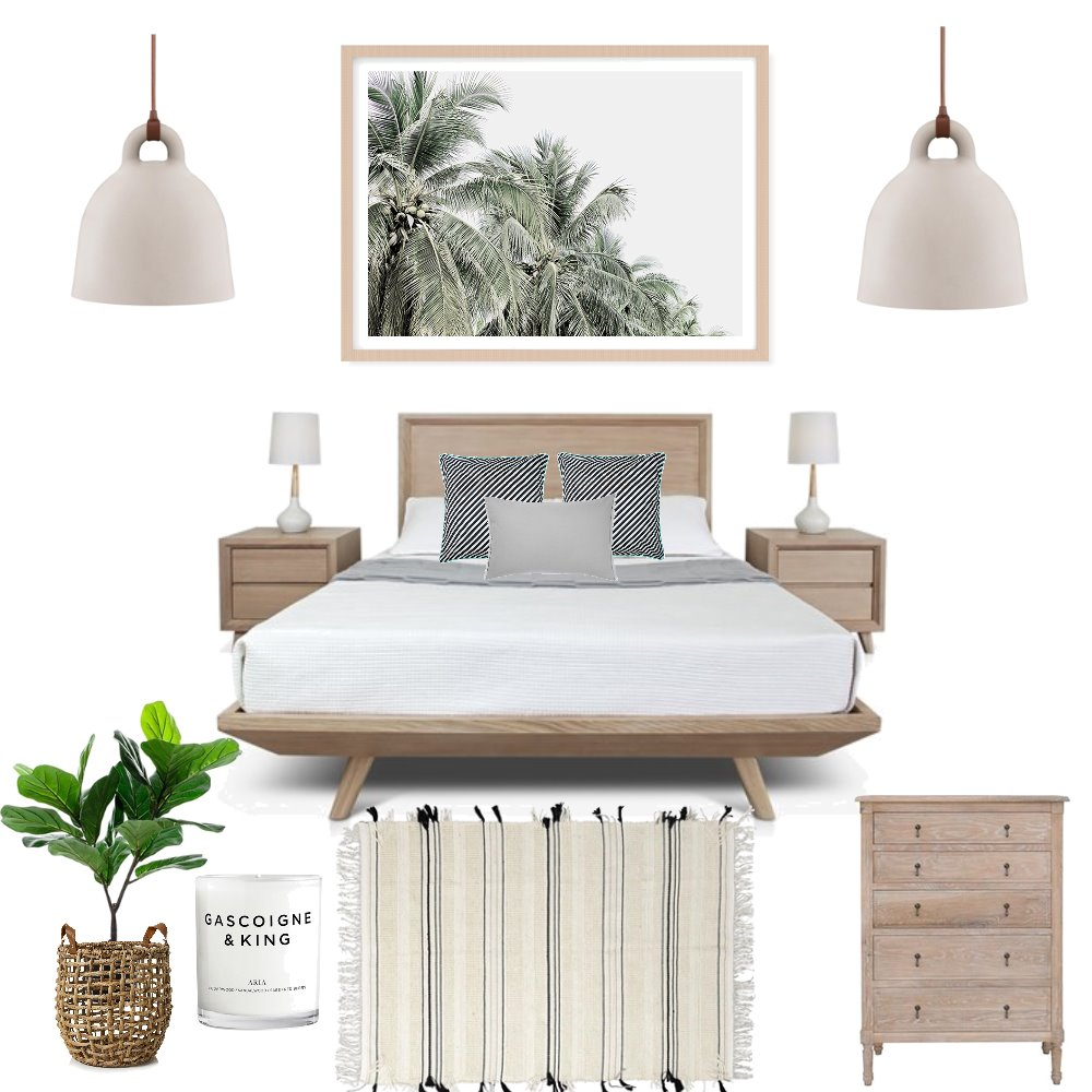 Island luxe bedroom Interior Design Mood Board by stylishlivingaustralia on Style Sourcebook
