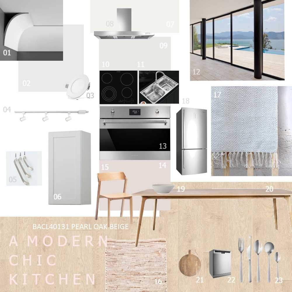 Modern Chic Kitchen Interior Design Mood Board by llanlan91 on Style Sourcebook
