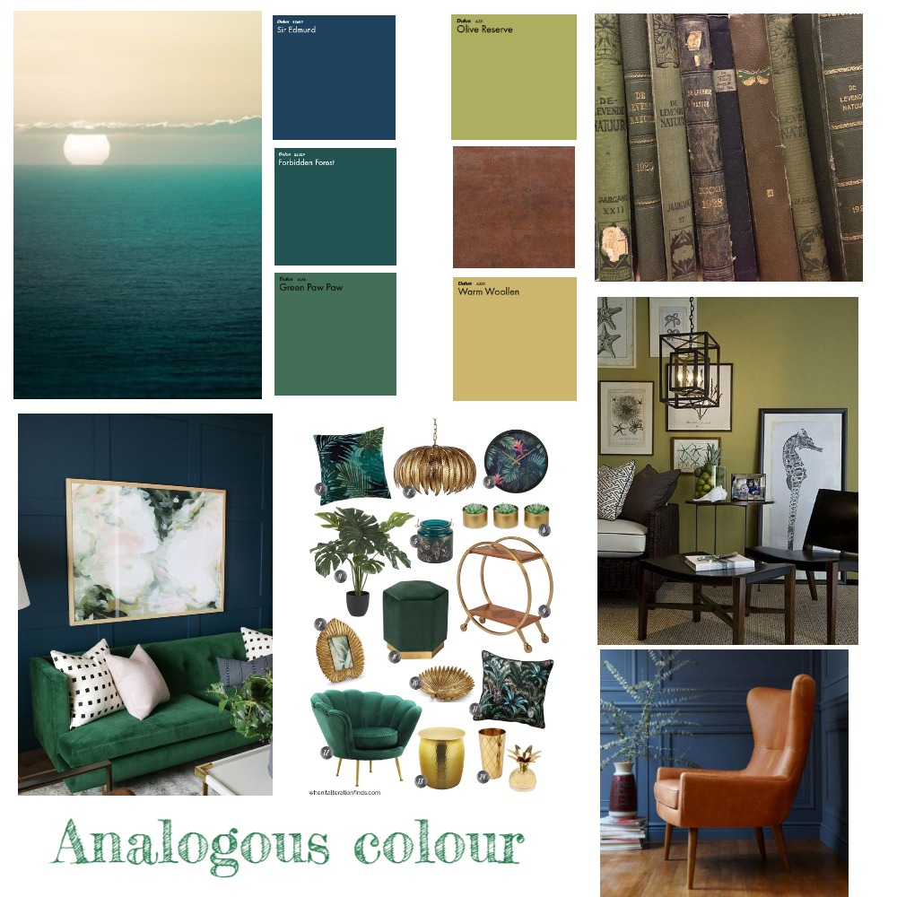 Analogous Color mood board Interior Design Mood Board by ditaduck14 on Style Sourcebook