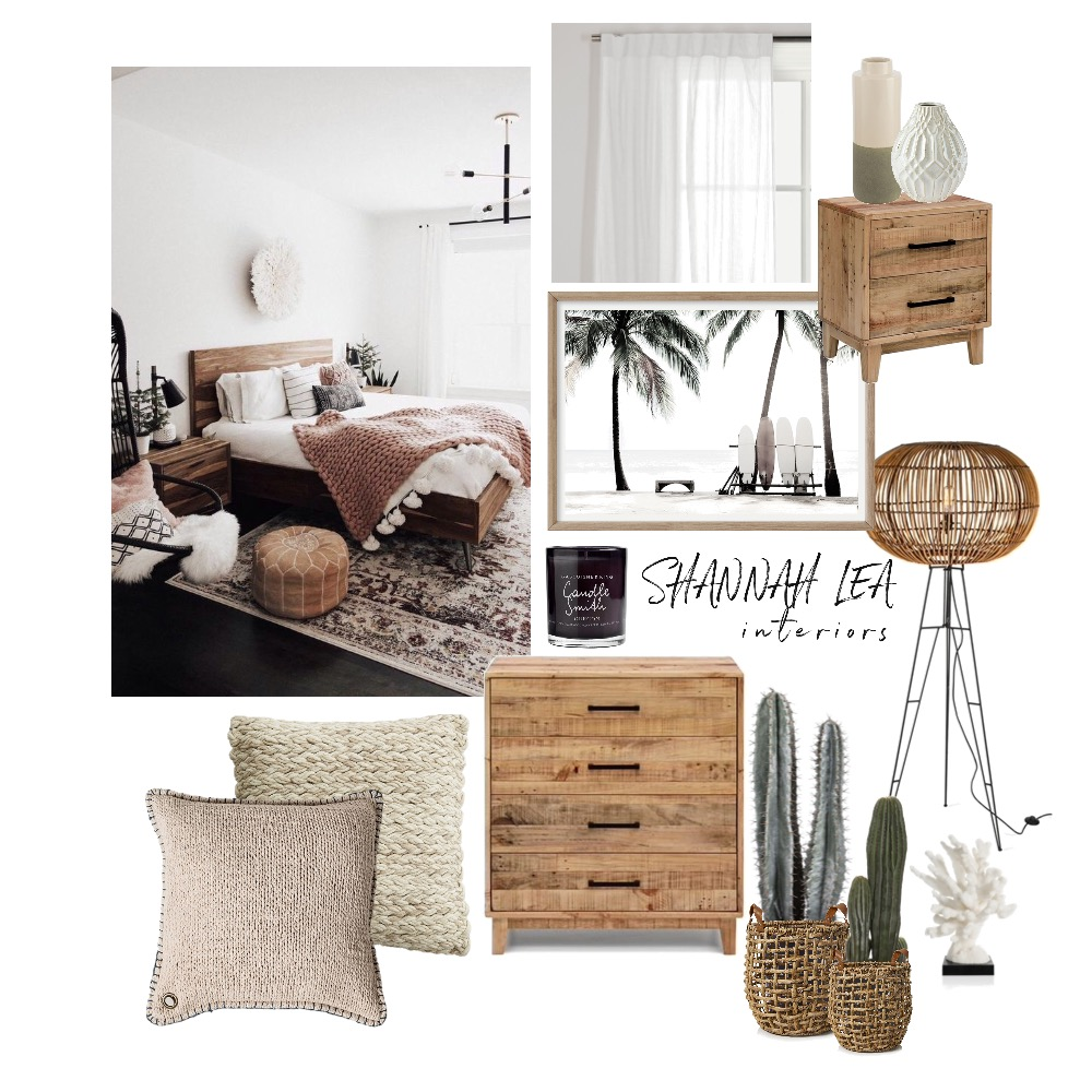 Coastal Bedroom Interior Design Mood Board by Shannah Lea Interiors on Style Sourcebook
