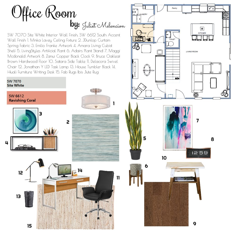 Proposed Office Room Interior Design Mood Board by JulietM on Style Sourcebook