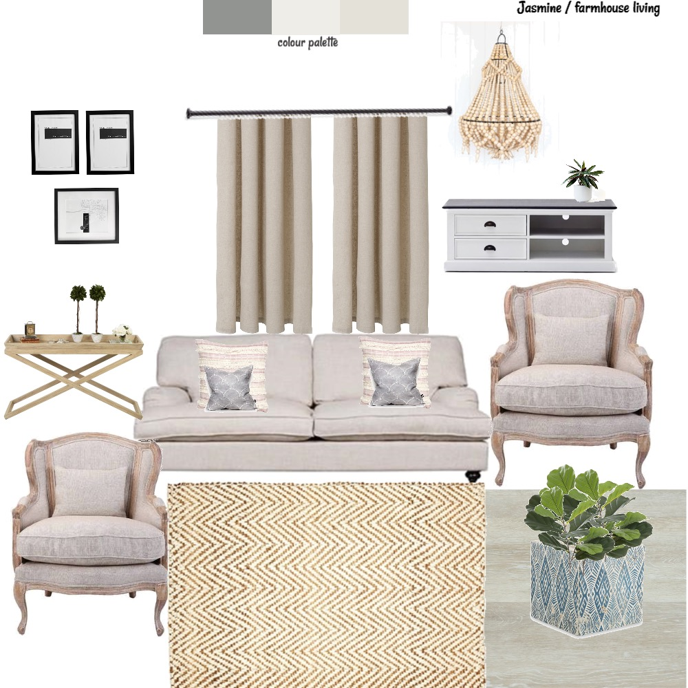 Jasmine Farmhouse accents Interior Design Mood Board by Style A Space on Style Sourcebook