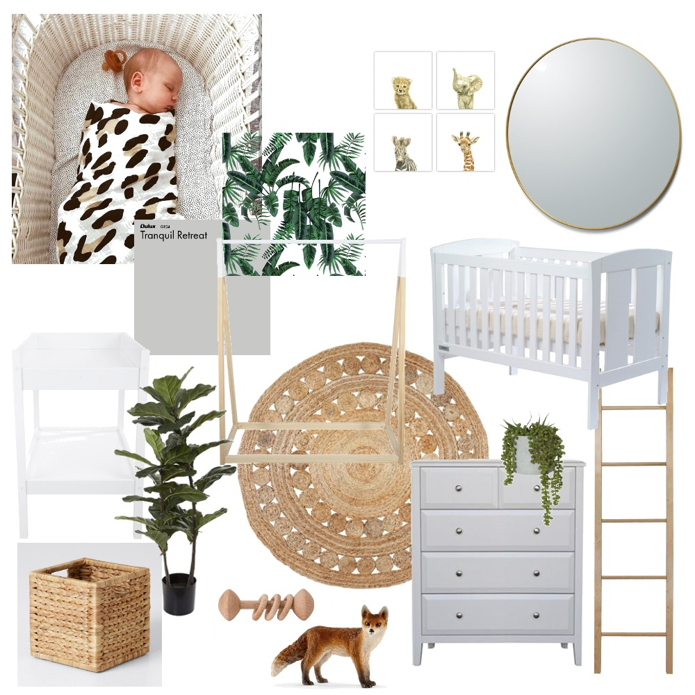 Baby A's Nursery Interior Design Mood Board by ency.studio on Style Sourcebook