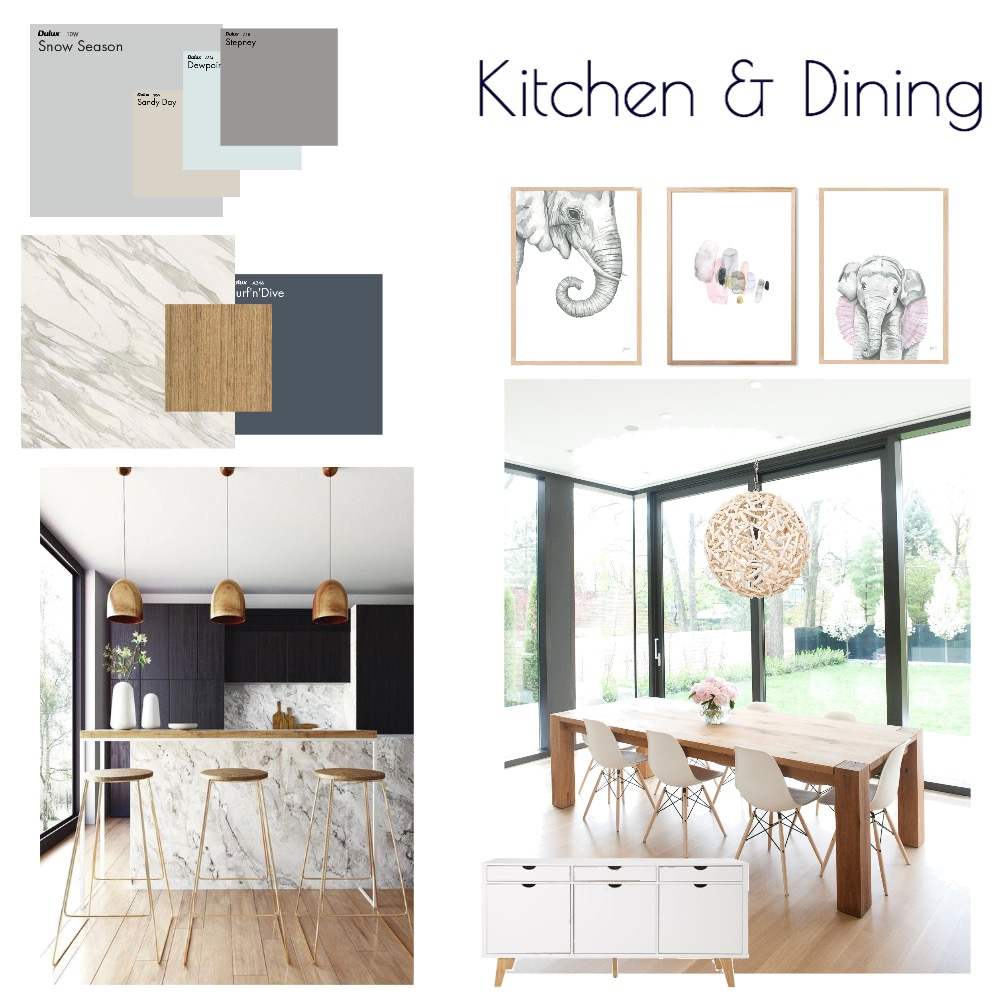 Kitchen & Dining Room Interior Design Mood Board by MODDEZIGN on Style Sourcebook