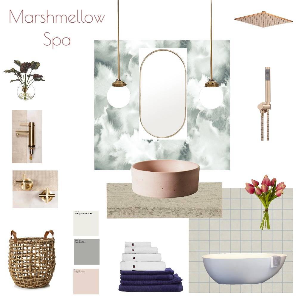 Marshmellow Spa Interior Design Mood Board by JoannaLee on Style Sourcebook
