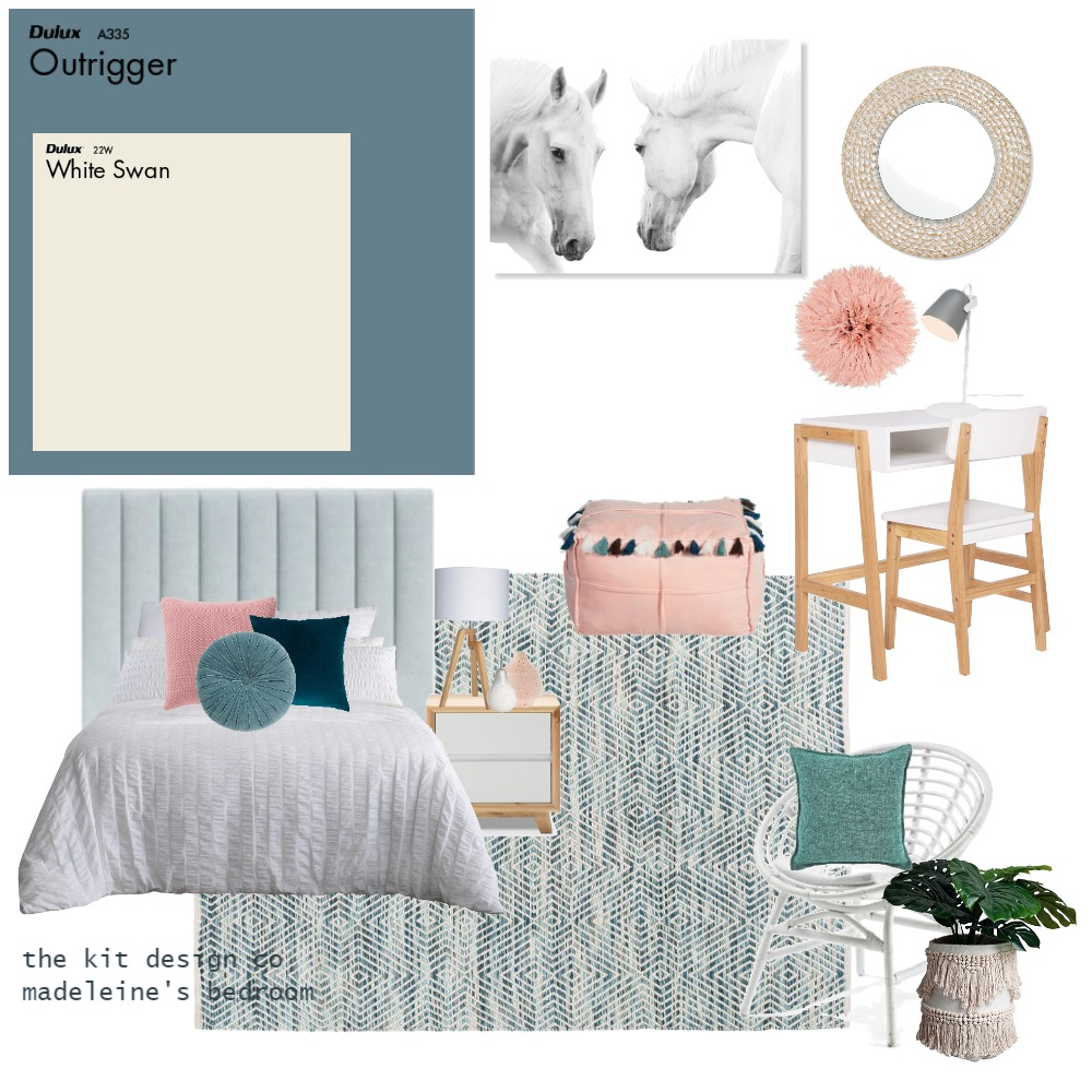 Madeleine's room Interior Design Mood Board by the kit design co on Style Sourcebook