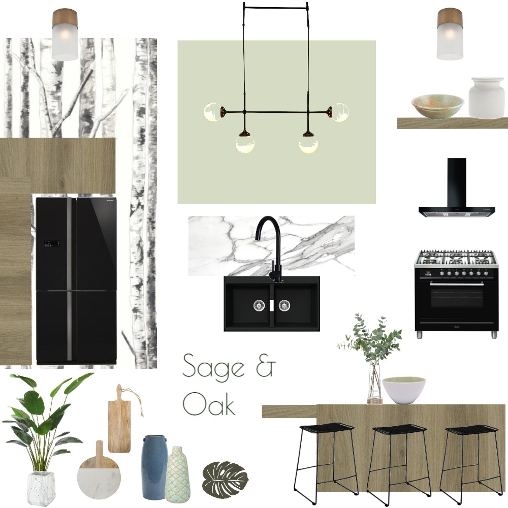 Sage and Oak kitchen Interior Design Mood Board by JoannaLee on Style Sourcebook