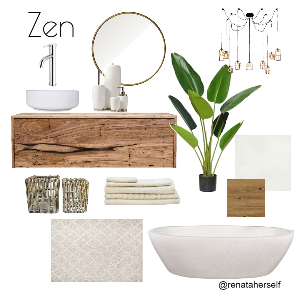 Zen Bathroom Interior Design Mood Board by Renata on Style Sourcebook