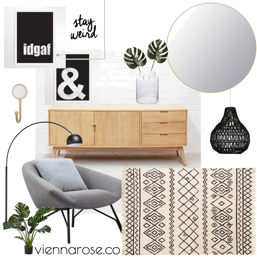 Music Corner Interior Design Mood Board by Vienna Rose Styling on Style Sourcebook