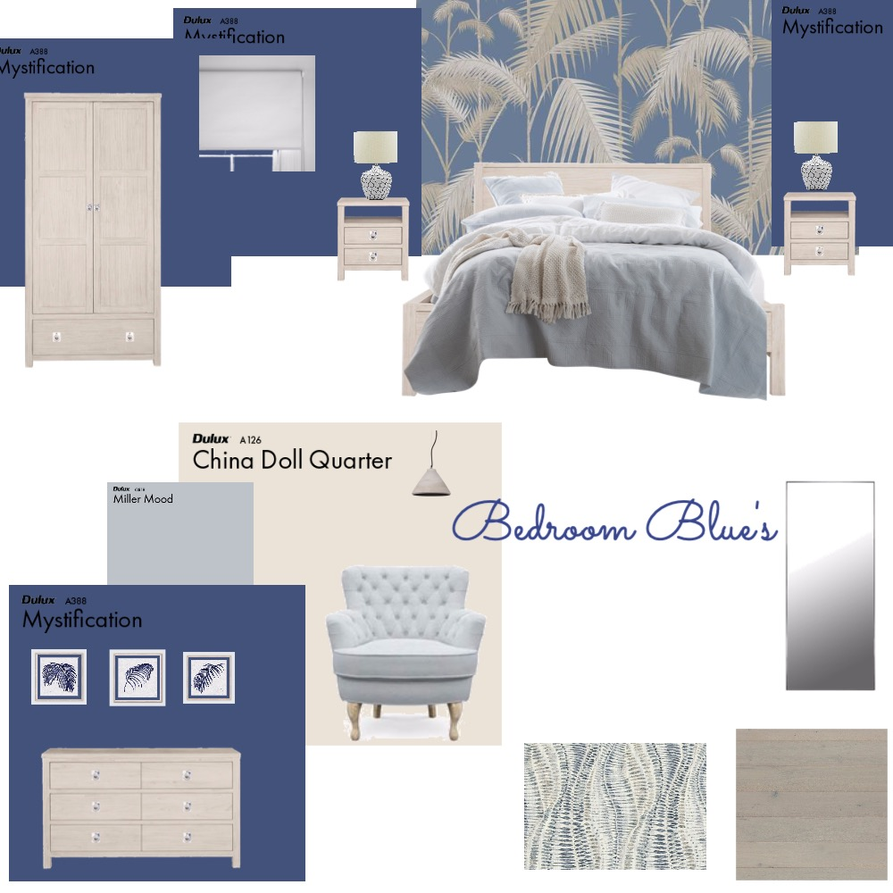 Bedroom Blue's Interior Design Mood Board by VisualStyle on Style Sourcebook