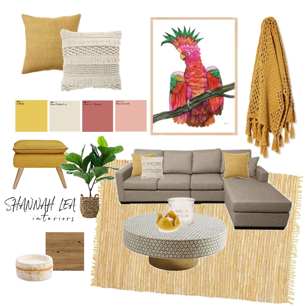 Colourful Living Interior Design Mood Board by Shannah Lea Interiors on Style Sourcebook