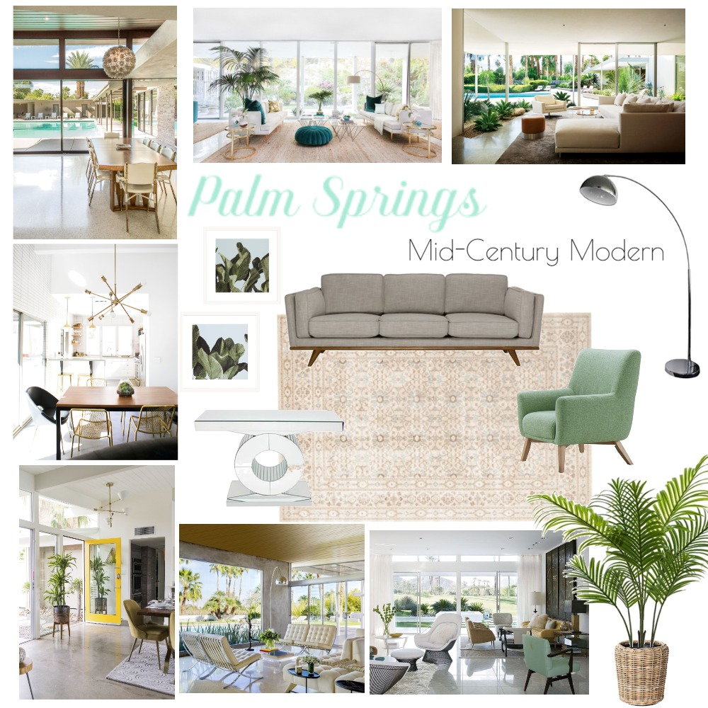 Palms Springs - Mid Century Modern Interior Design Mood Board by Taylah O'Brien on Style Sourcebook