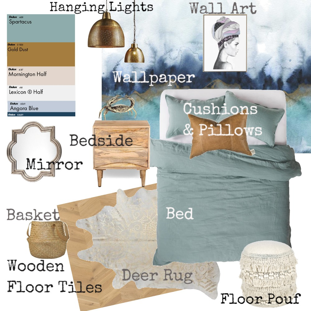 Visual Design Task 1 Interior Design Mood Board by Wharz02 on Style Sourcebook