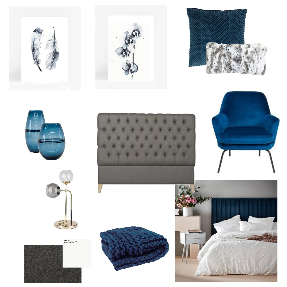 Fi Bedroom Interior Design Mood Board by chanelmcglashen on Style Sourcebook