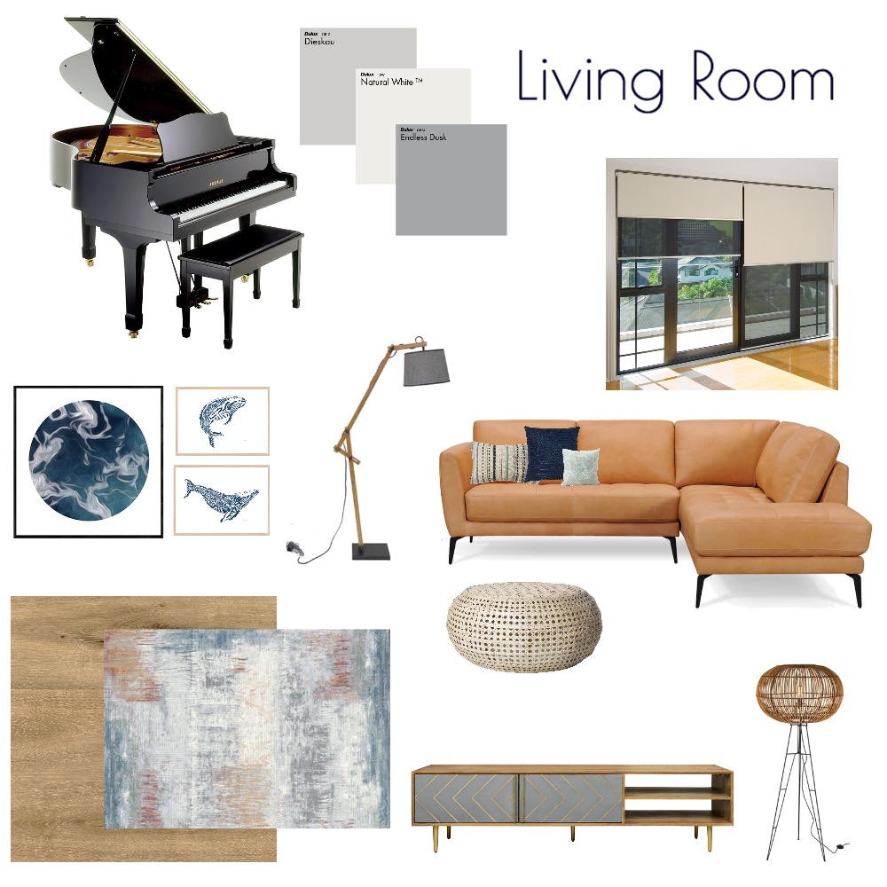 Living Room - City Cottage Interior Design Mood Board by MODDEZIGN on Style Sourcebook