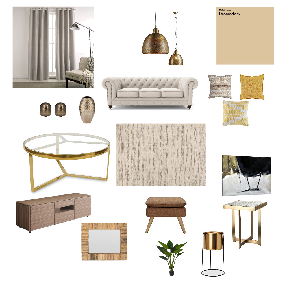 Neutral Livingroom Interior Design Mood Board by Stylezhomedecor on Style Sourcebook