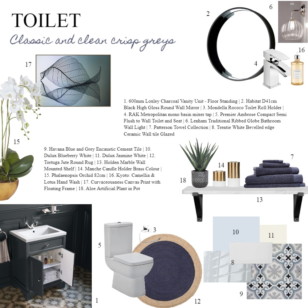 IDI assignment 9 - Toilet Interior Design Mood Board by Laurenboyes on Style Sourcebook