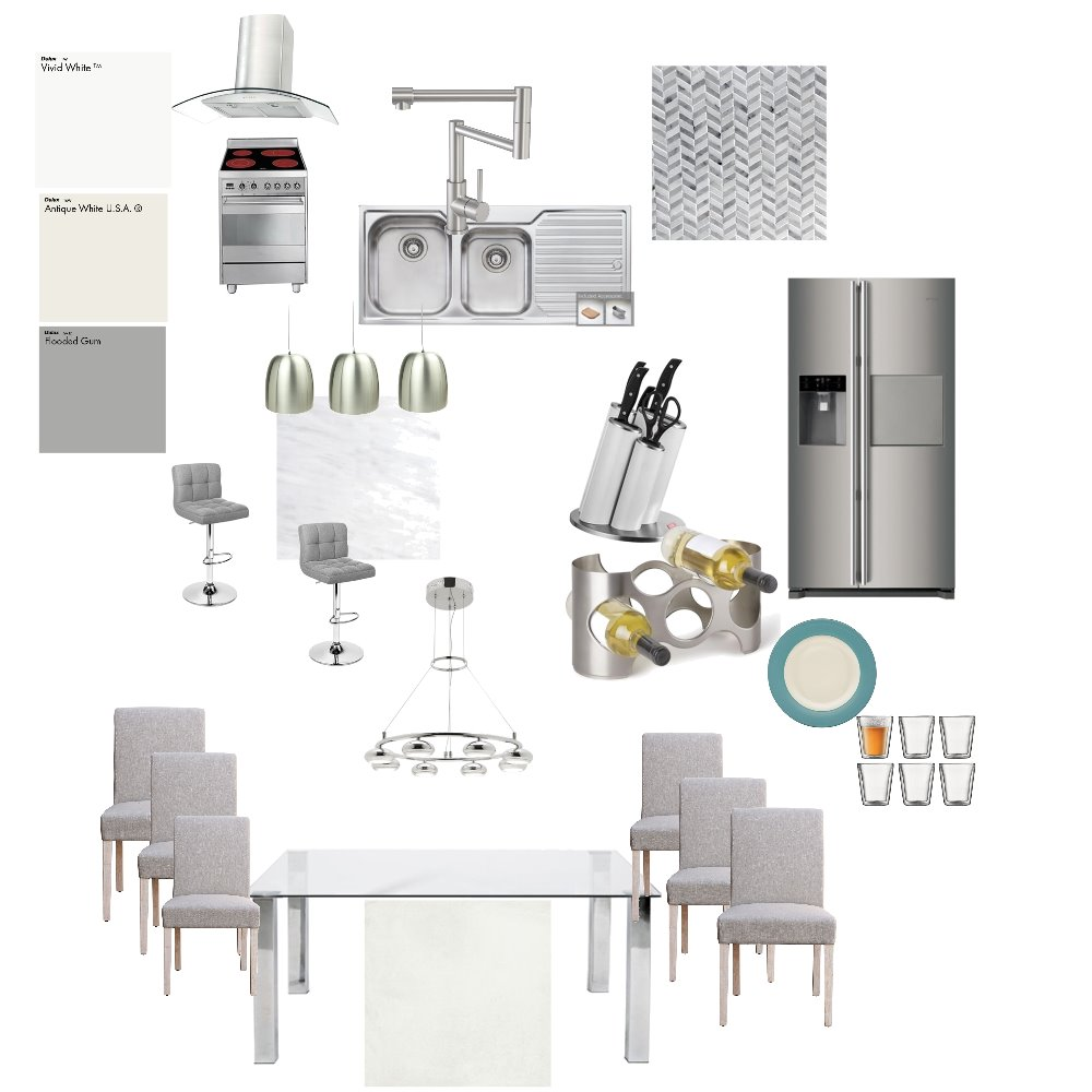 kitchen/dining Interior Design Mood Board by merylmaulion on Style Sourcebook