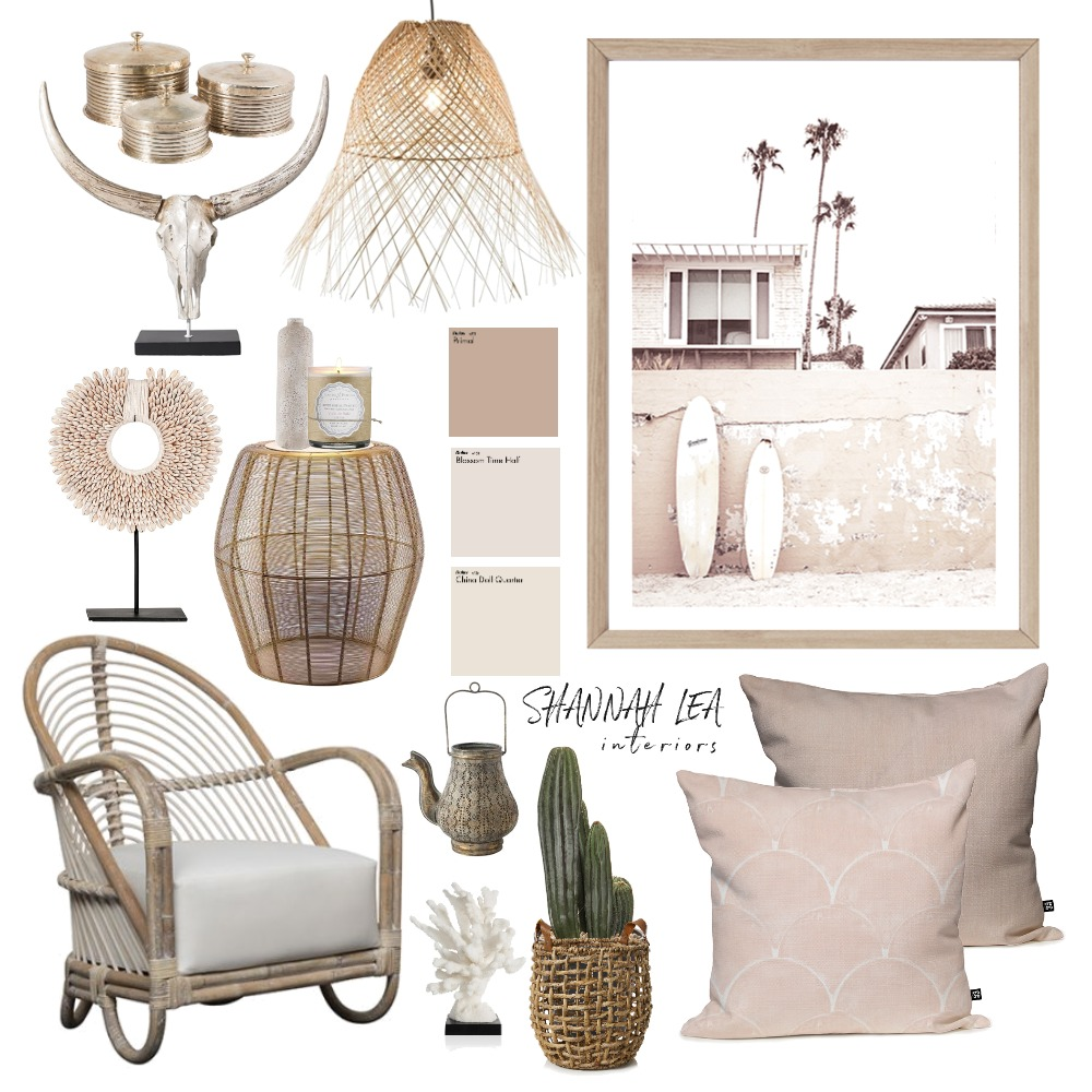 Neutral Boho Interior Design Mood Board by Shannah Lea Interiors on Style Sourcebook