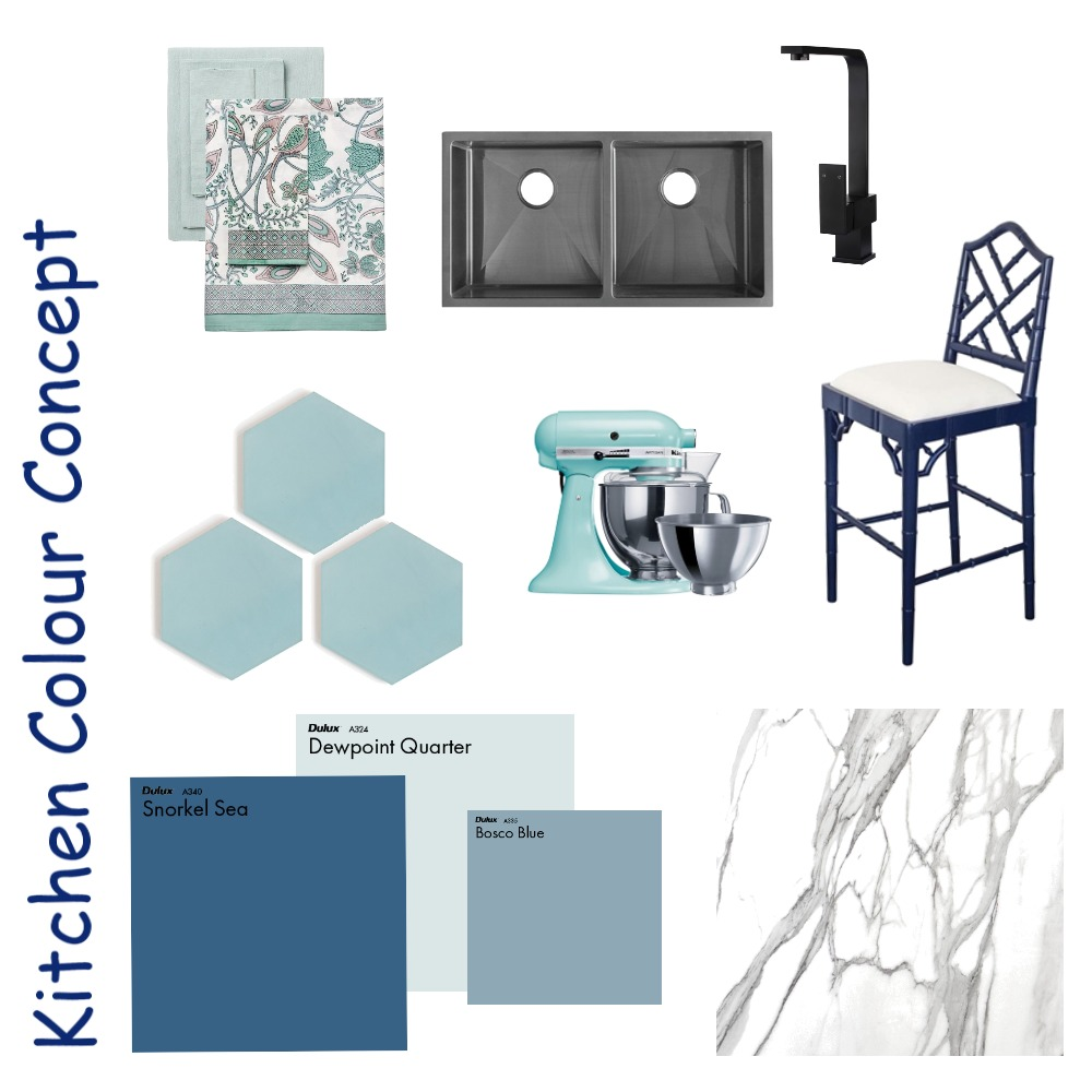 Kitchen Colour concept Interior Design Mood Board by SallySeashells on Style Sourcebook