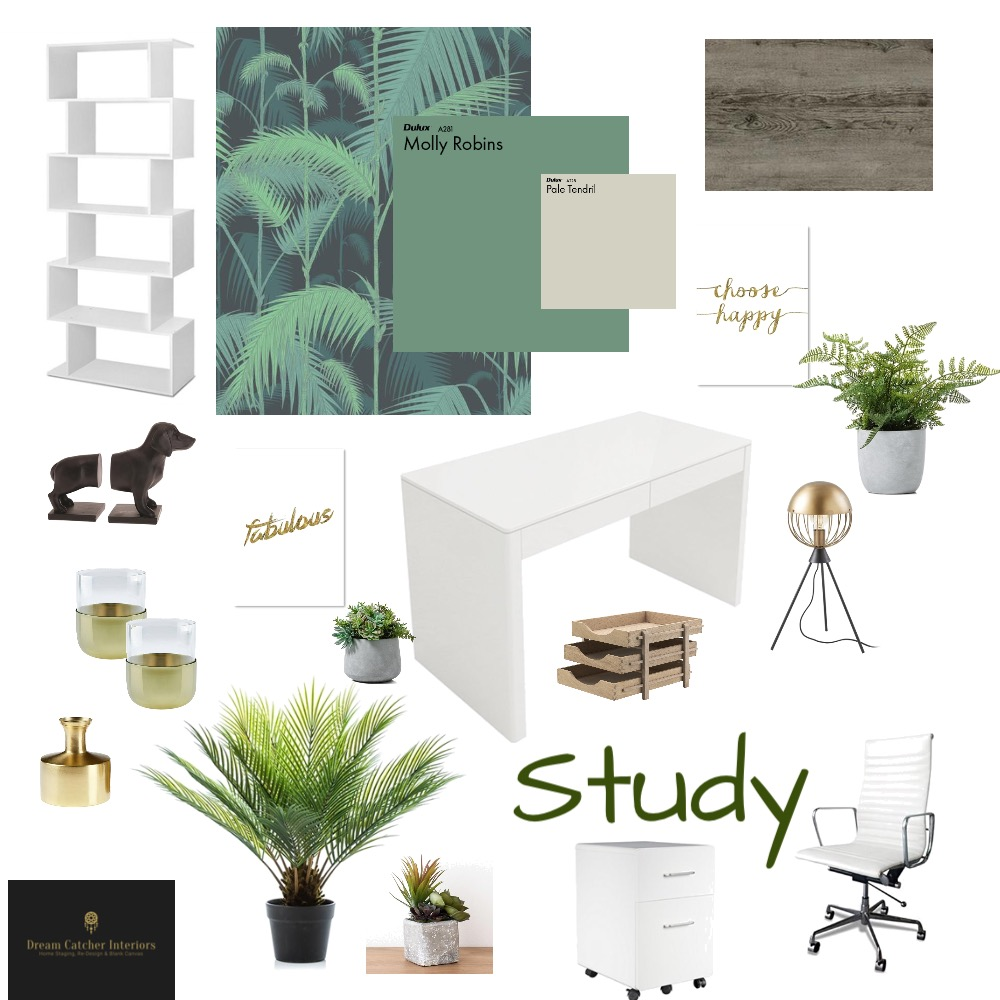 Study Interior Design Mood Board by HelenGriffith on Style Sourcebook