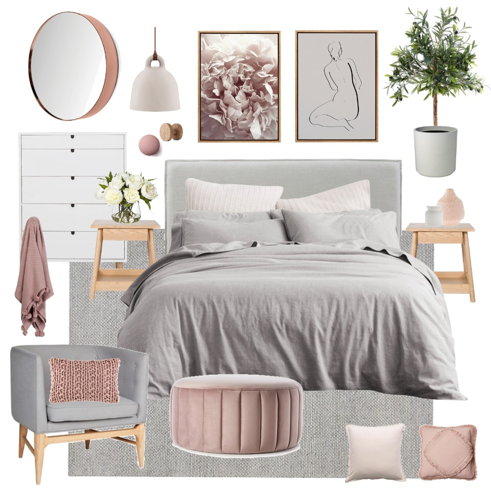 Scandi bedroom Interior Design Mood Board by Thediydecorator on Style Sourcebook