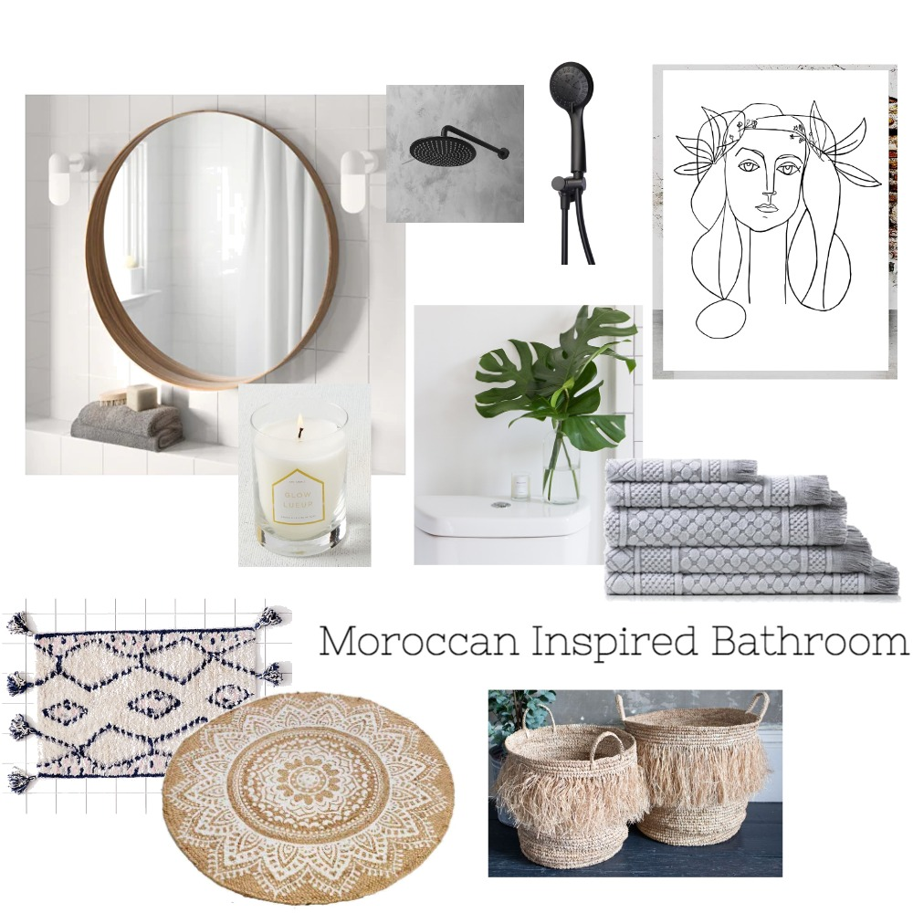 Moroccan Bathroom Interior Design Mood Board by Jenyuen on Style Sourcebook