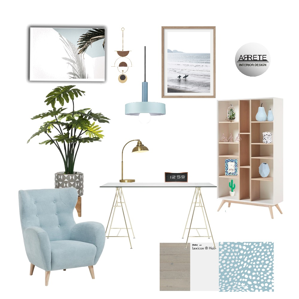 mid c study Interior Design Mood Board by ARRETE on Style Sourcebook