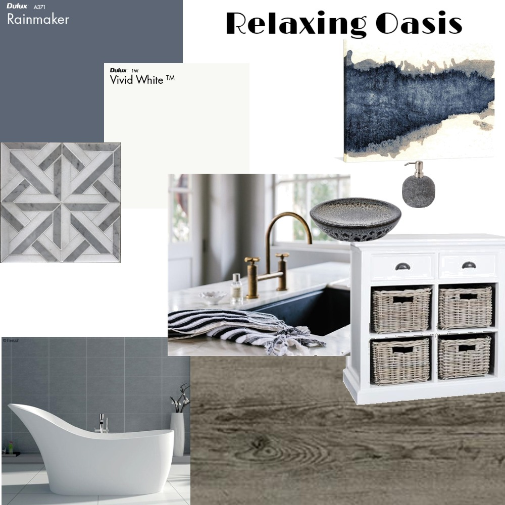 Relaxing Bathroom Oasis Interior Design Mood Board by KozmicDesigns on Style Sourcebook