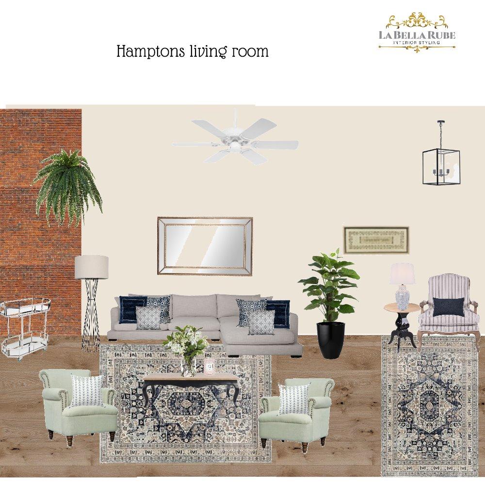 Hamptons LIving room Interior Design Mood Board by La Bella Rube Interior Styling on Style Sourcebook