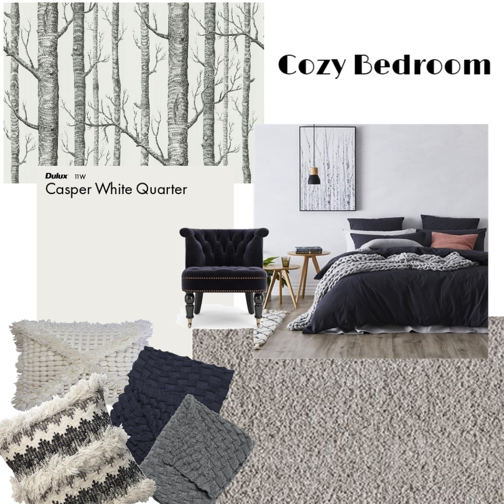 Cozy Bedroom Interior Design Mood Board by KozmicDesigns on Style Sourcebook