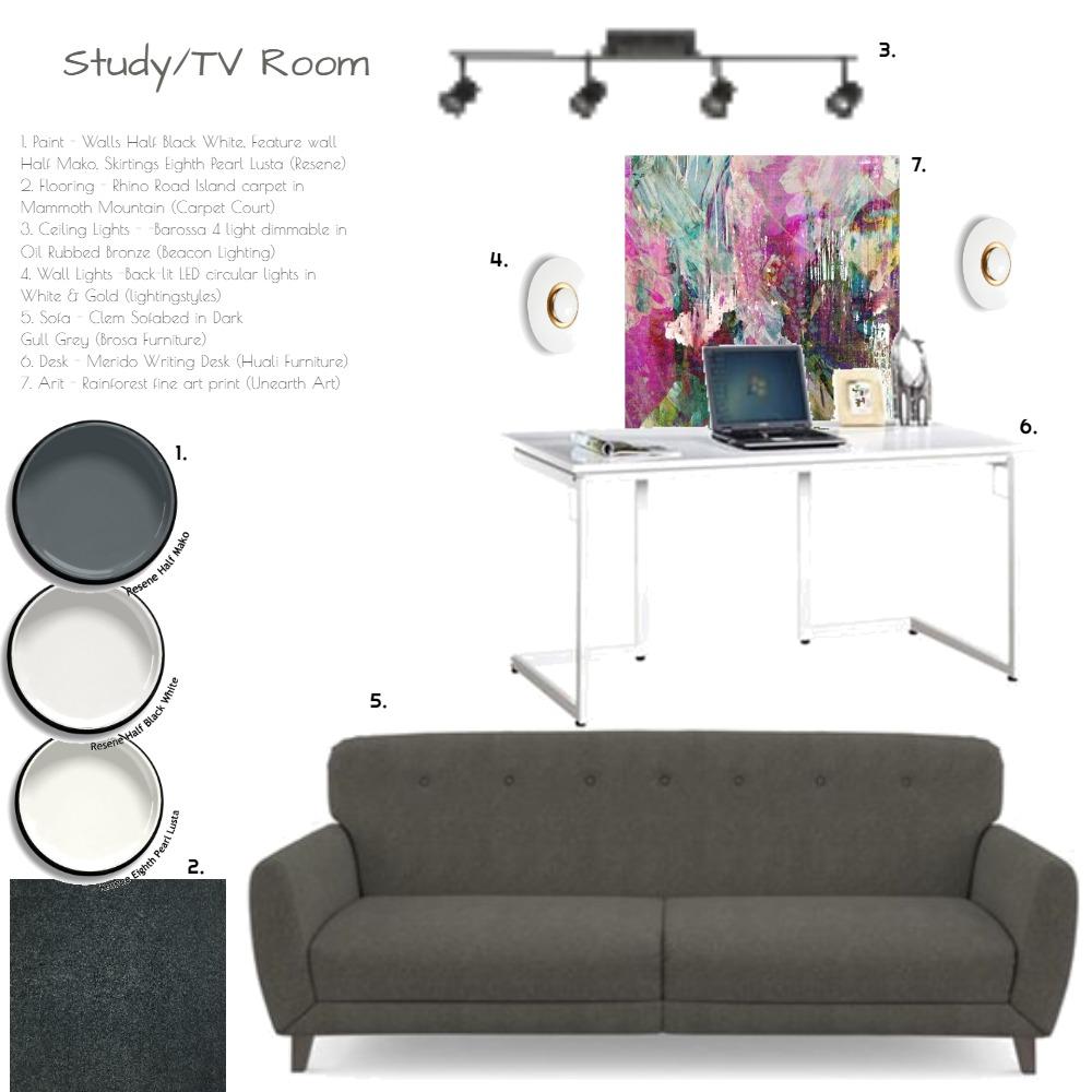 Study/TV Room Interior Design Mood Board by MJG on Style Sourcebook