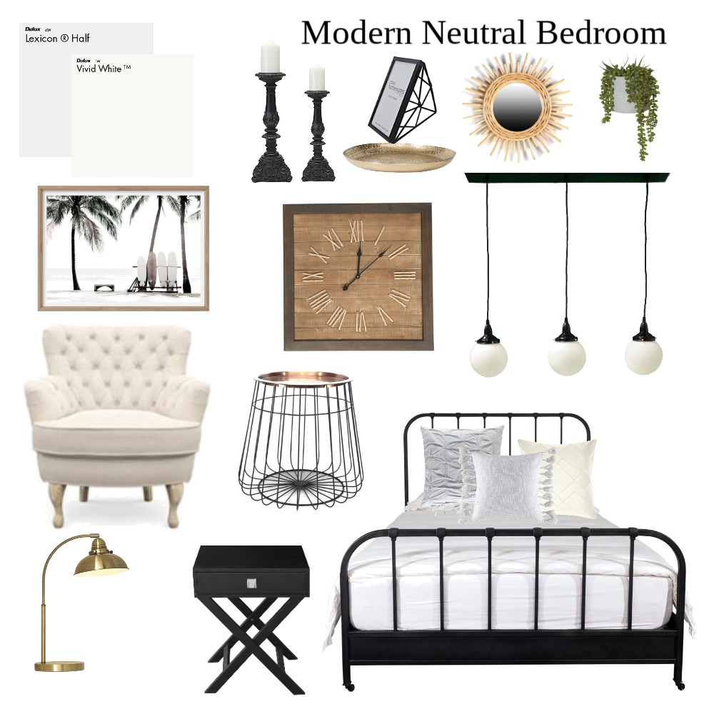 modern neutral bedroom 2 Interior Design Mood Board by mmardoian on Style Sourcebook