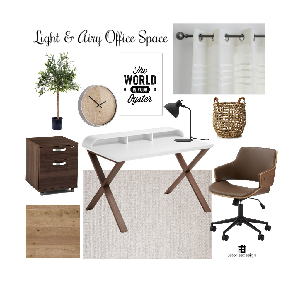 Light and Airy Office Space Interior Design Mood Board by lksimpson on Style Sourcebook