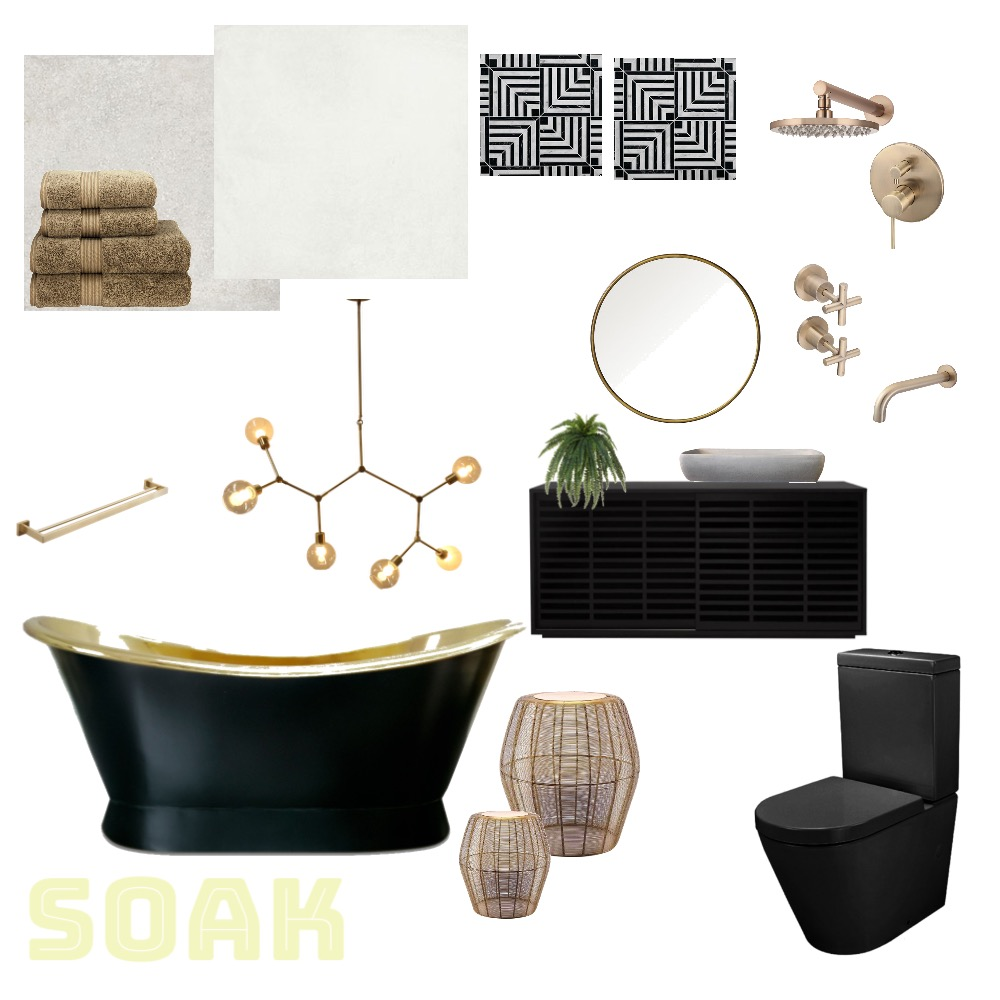 Gatsby Bathroom Interior Design Mood Board by HelenGriffith on Style Sourcebook