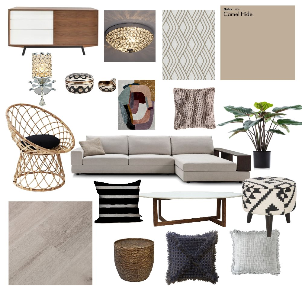 Living Area Interior Design Mood Board by id_exell on Style Sourcebook