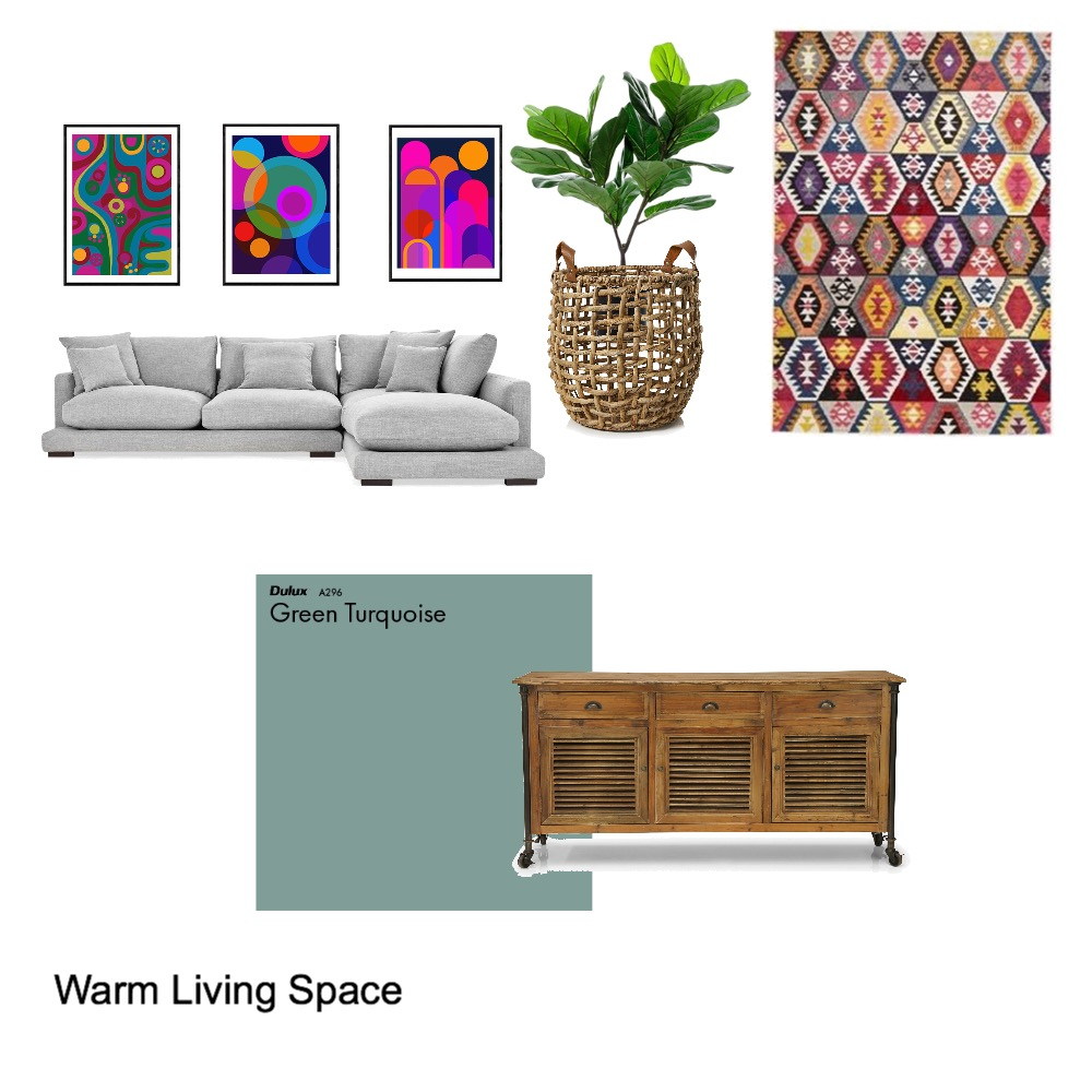 Warm Living Space Interior Design Mood Board by Anele on Style Sourcebook