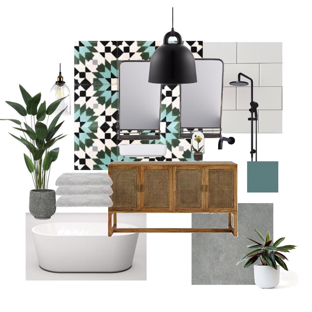 Teal Moroccan Bath Interior Design Mood Board by Natasha797 on Style Sourcebook