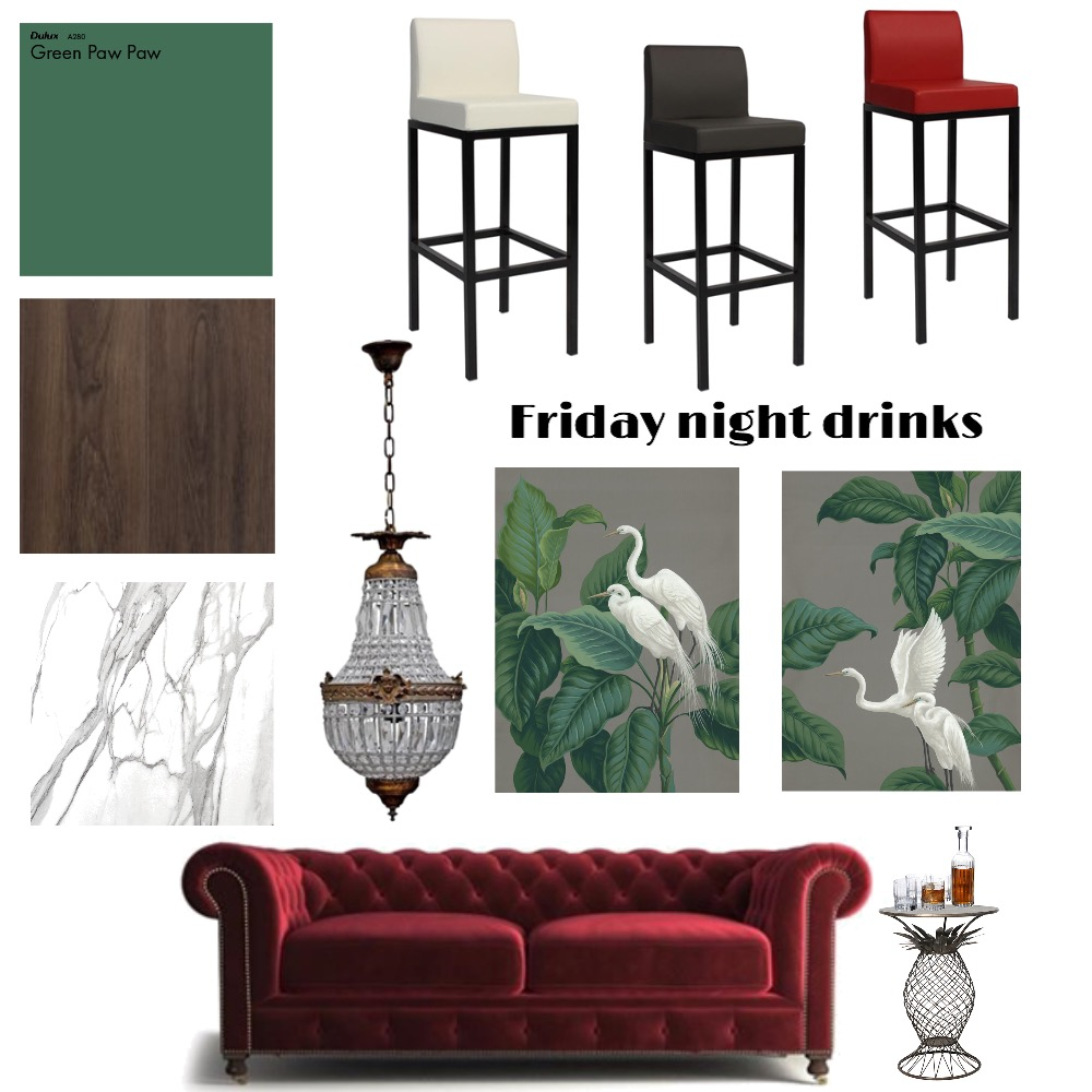Friday night drinks Interior Design Mood Board by PetrolBlueDesign on Style Sourcebook