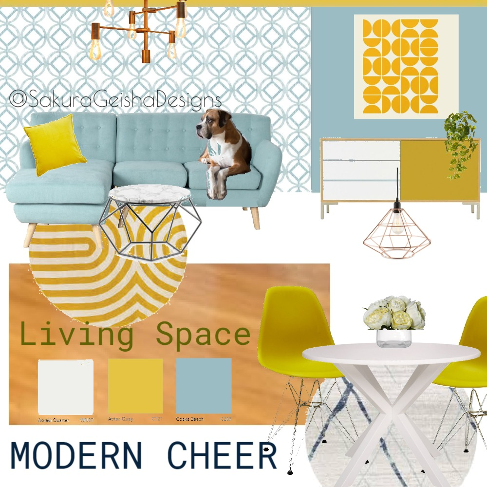 MODERN CHEER Interior Design Mood Board by G3ishadesign on Style Sourcebook