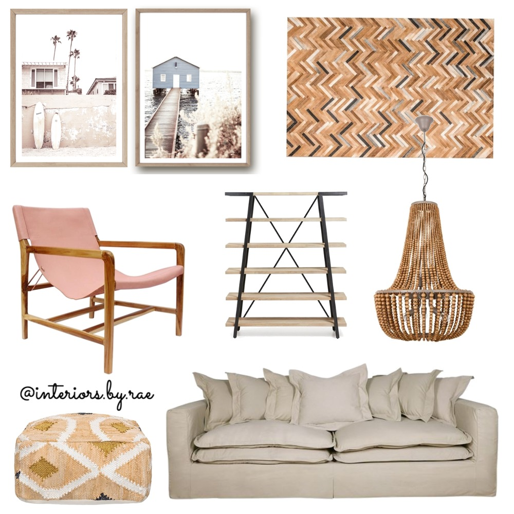 Boho Lounge Interior Design Mood Board by interiorsbyrae on Style Sourcebook
