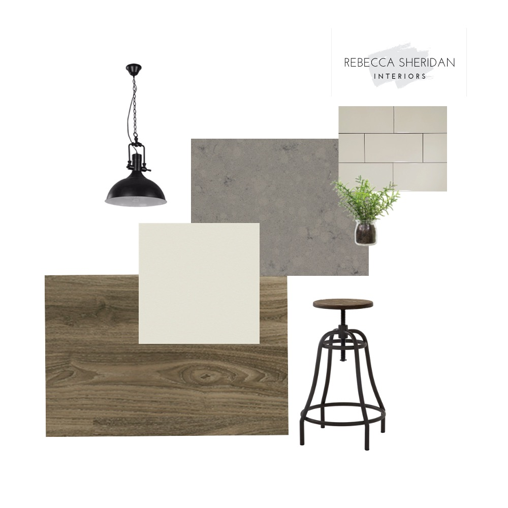 Iron and Wood Kitchen Interior Design Mood Board by Rebecca Sheridan Interiors on Style Sourcebook