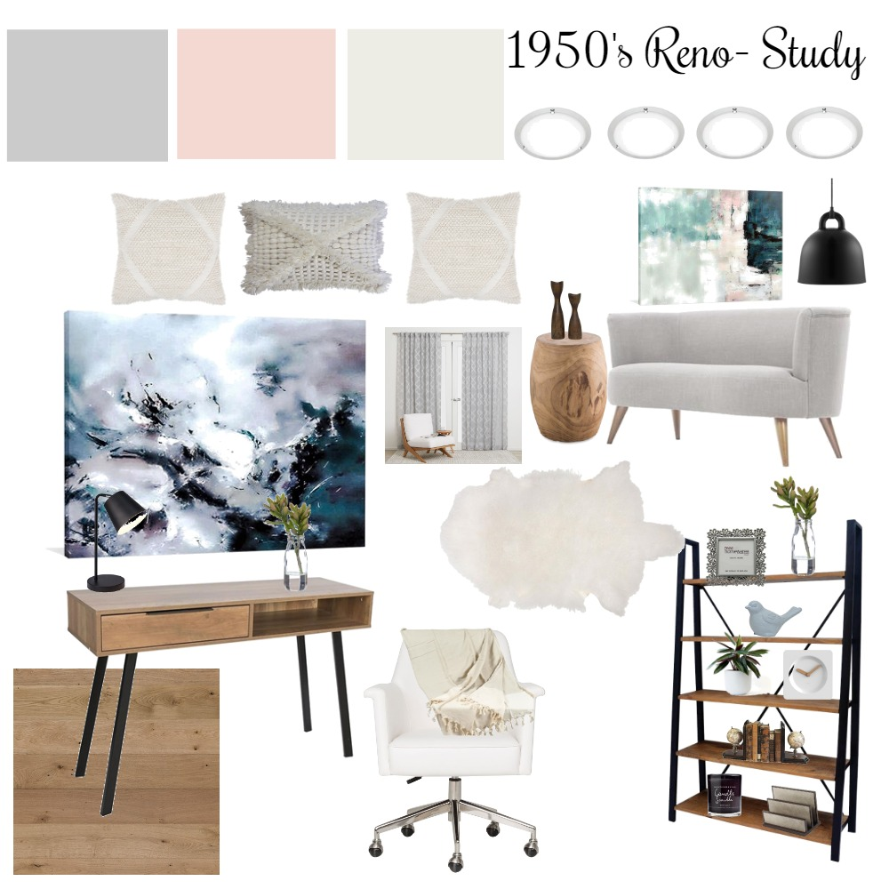 1950's Reno-Study Interior Design Mood Board by kaittaylor on Style Sourcebook