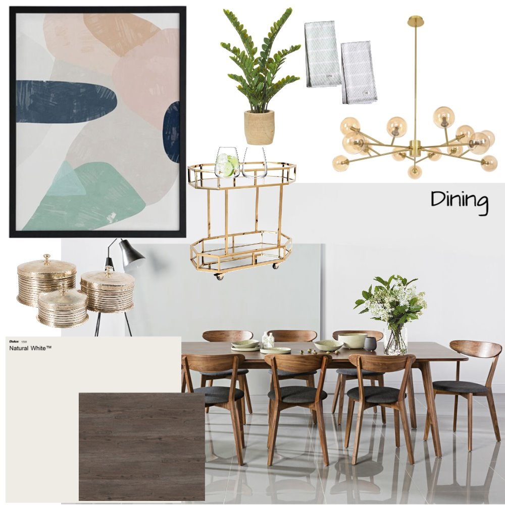 Dining Room Interior Design Mood Board by abbeywilliams on Style Sourcebook