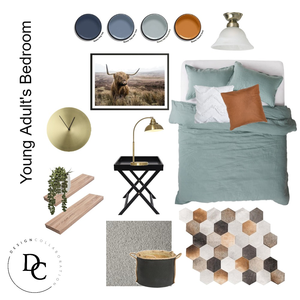 Young Adults Room Interior Design Mood Board by KerriJean on Style Sourcebook