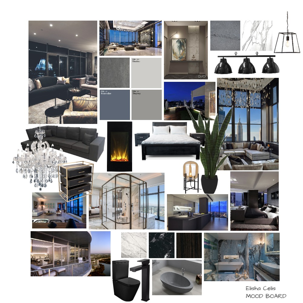 Penthouse Interior Design Mood Board by ElishaCelis on Style Sourcebook