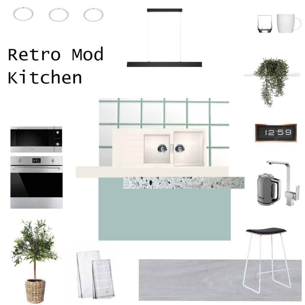 Retro Mod Kitchen Interior Design Mood Board by JoannaLee on Style Sourcebook