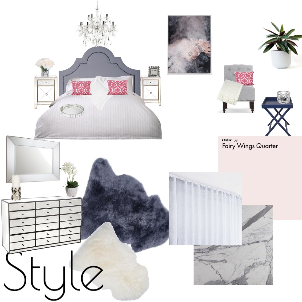 Bedroom Interior Design Mood Board by DestinyDesigns on Style Sourcebook